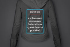 T shirt belle mere sweat fille