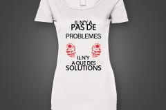 T shirt dame pas de probleme