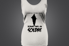singlet dame soldat