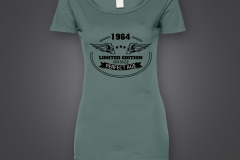 t shirt dame 1964