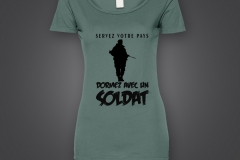 t shirt dame soldat