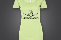t shirt dame superhero