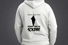 sweat homme soldat