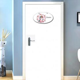 plaque de porte licorne