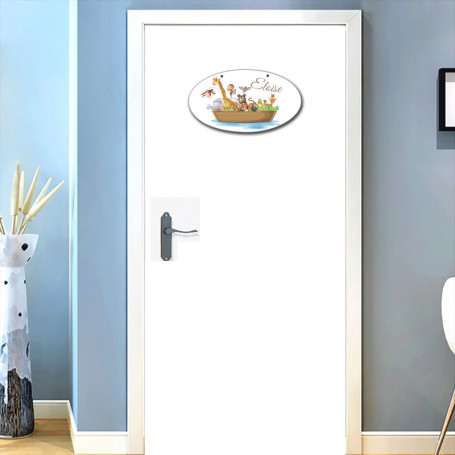 "Plaque de porte ""Arche de Nöe"""